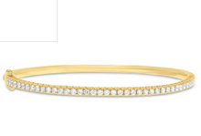 Load image into Gallery viewer, 14kt Stackable Diamond Bangle