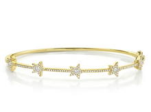 Load image into Gallery viewer, 14kt Diamond Star Bangle