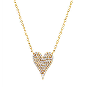 Medium Diamond Heart Necklace