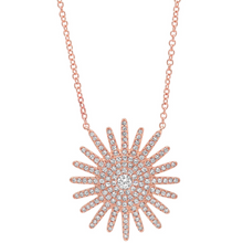 Load image into Gallery viewer, 14kt Diamond Starburst Necklace