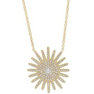 14kt Diamond Starburst Necklace