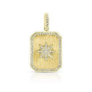14kt Diamond Star Charm