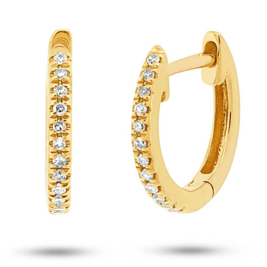 14kt Diamond Huggie Earrings