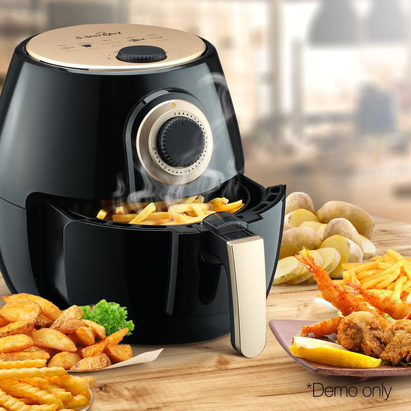 2.6L Air Fryer Low Fat Oil Less Cooking Health Multi Cooker W/ Recipe Black