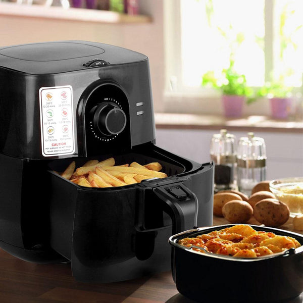 3L Air Fryer Low Fat Oil Less Cooking Health Multi Cooker W/ Recipe Black
