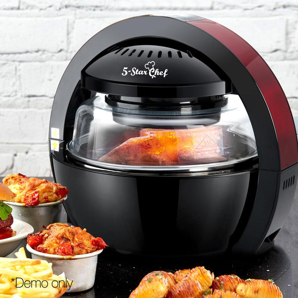 13L Air Fryer Oven LCD Digital Cooker Healthy Low Fat Oil Free Cooking 1300W Black