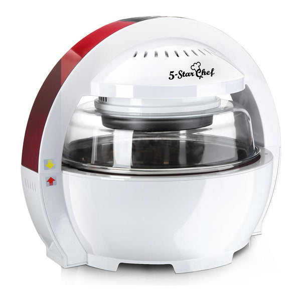 13L Air Fryer Oven Cooker - White & Red