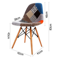 Set Of 4 Design Chairs For Cafe Kitchen Beech Fabric