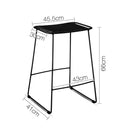 2x Outdoor Bar Stool Rattan PE Wicker For Garden Patio Café In Black 66cm