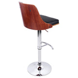 Wooden Bar Stool Barstool Kitchen Dining Chairs Black PU Leather