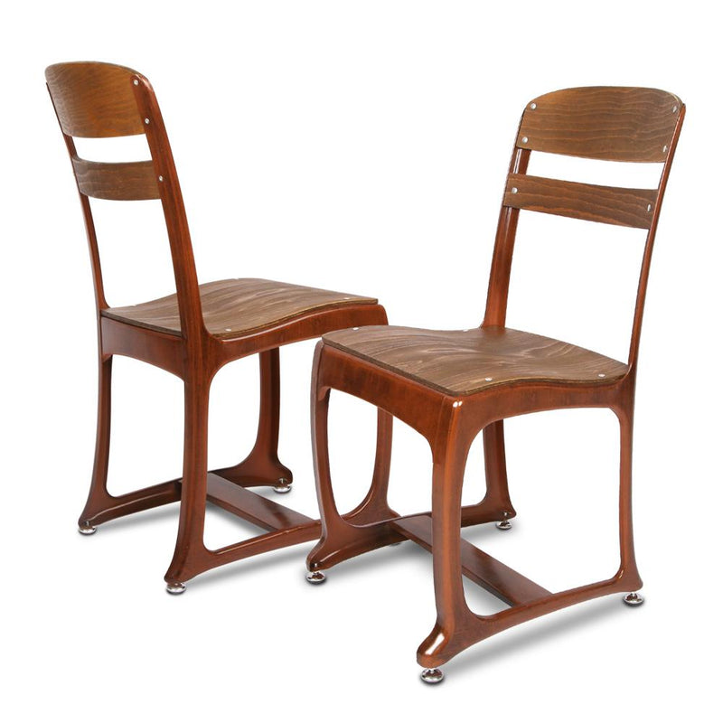 2 X Dining Chairs Design Industrial Warehouse Style Vintage Copper