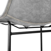 2 X Dining Chairs Chairs For Home Cafe Kitchen Beech Leather Grey