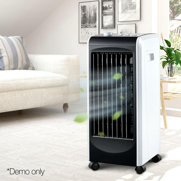 Evaporative Air Cooler Portable Fan Humidifier Air Conditioner Cooling Black