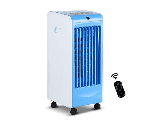 Evaporative Air Cooler W/Remote Portable Humidifier Conditioner Water 2L Blue
