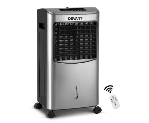Portable Evaporative Air Cooler Silver With Remote