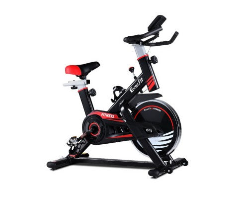 Spin Exercise Bike Fitness Commercial Home Workout Gym Equipment Black