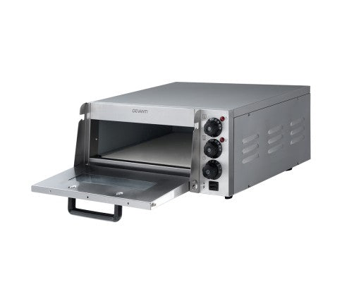 2000W Electric Commercial Pizza Oven Maker Single Deck Stainless Steel
