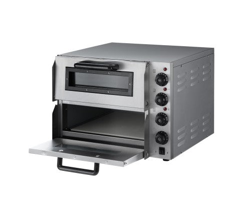Electric 3KW Pizza Oven Maker Commercial Twin Deck Stone Stainless Steel