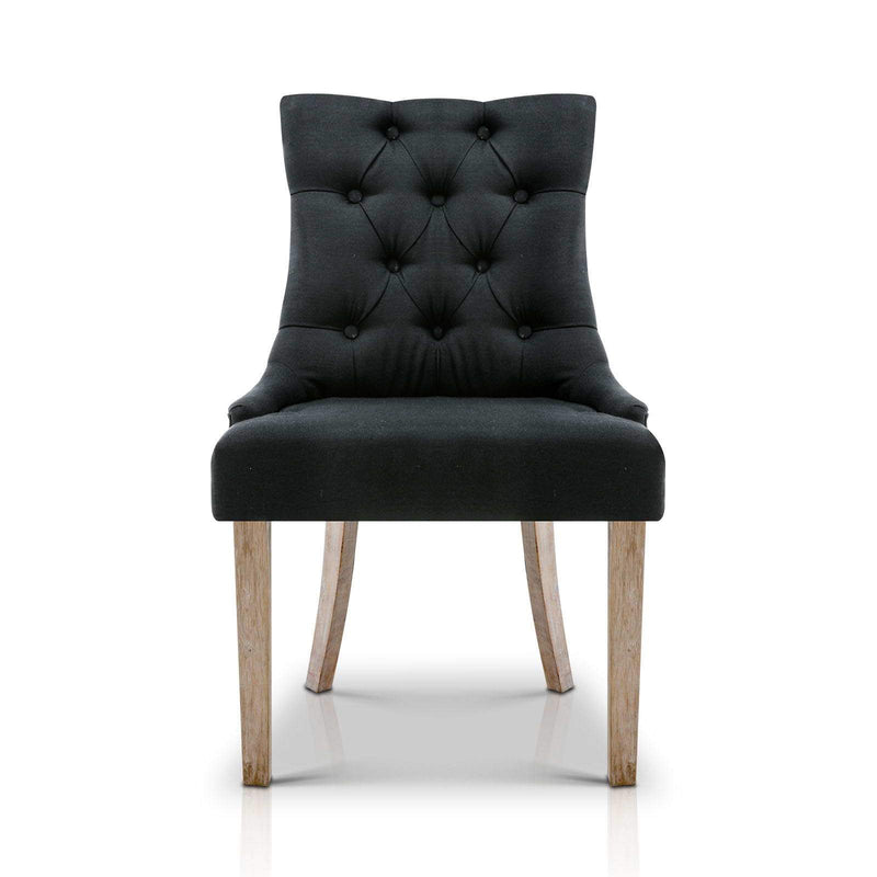 French Provincial Dining Chair - Black