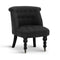 Linen Fabric Occasional Accent Chair - Black