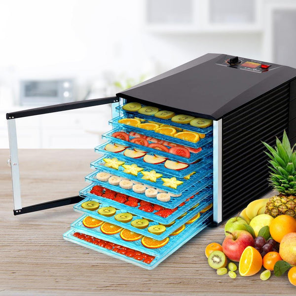 10 Tray Food Dehydrator Clear Door Design For Home Or Commercial Use To Preserve Dry Fruits Or Meats