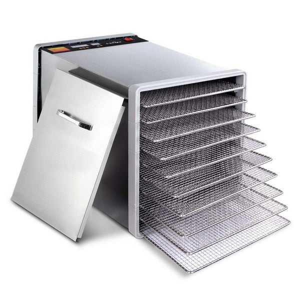 Stainless Steel Food Dehydrator with 10 Trays