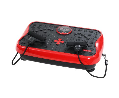 Vibration Machine Machines Platform Plate Vibrator Exercise Fit Gym Home Red/Black