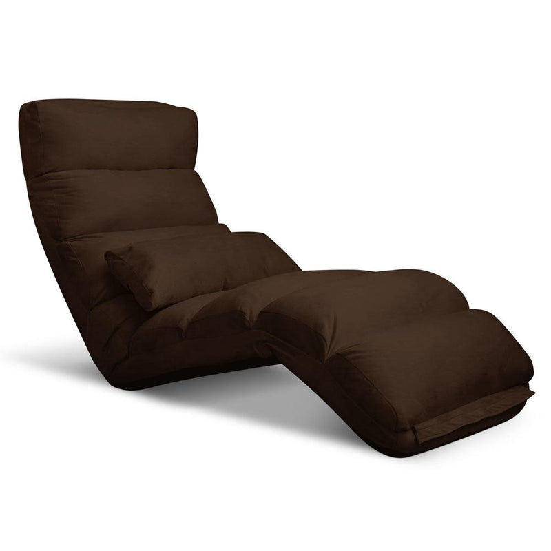 Lounge Sofa Chair - 75 Adjustable Angles Brown