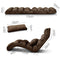 Adjustable Sofa Bed Lounge Chair Fully Foldable Recliner Chaise 75 Positions Brown