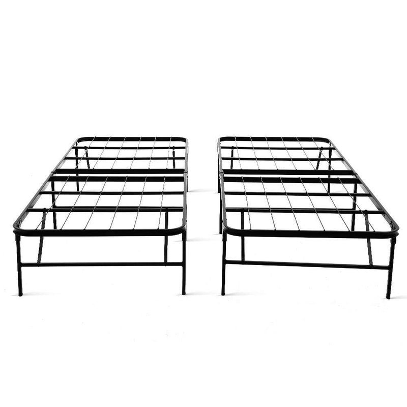 King Size Fabric Bed Frame Charcoal