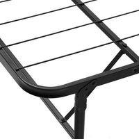 Grace Collection Folding Bed Frame Queen - Black