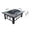 3 In 1 Outdoor Fire Pit BBQ And Table 94cm Grill Garden Patio Camping W/ Ice Tray