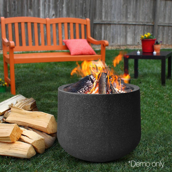 Outdoor Fire Pit Portable Lightweight Patio Cylindrical Heater Fireplace