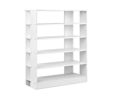 6 Tier Shoe Rack For 30 Pairs Shoe Cabinet Wooden Storage Shelf White