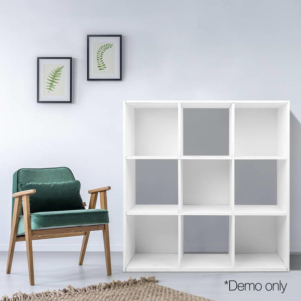 9 Cube Display Shelf Bookcase Storage Organiser Stand Shelves White