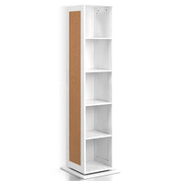 5 Shelf Rotating Cabinet Storage Shoe Rack - White