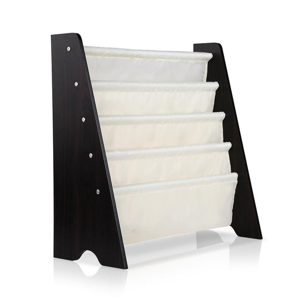 Kids Bookshelf Magazine Display Rack - White