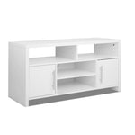 Entertainment Unit with Shelves - White