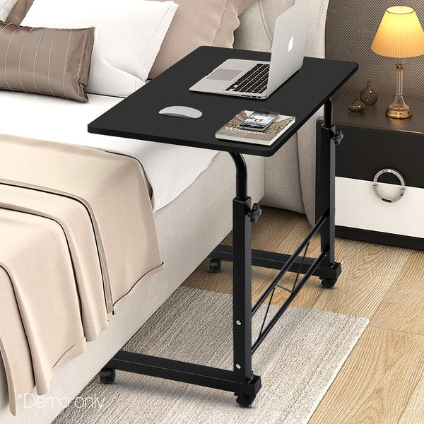 Portable Laptop Desk Mobile Study Table Height Adjustable Black