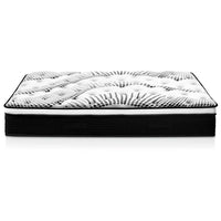 Double Mattress Euro Top 5 Zone Pockets Springs High Resilience Foam Medium Firmness