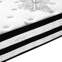Queen Mattress Euro Top 5 Zone Pockets Springs High Resilience Foam Medium Firm 34cm