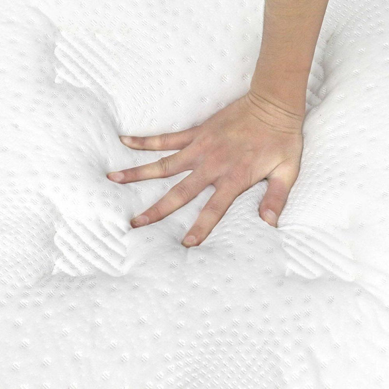 King Size Foam Pillow Top 5 Zoned Pocket Spring Mattress 28cm Thick - Medium