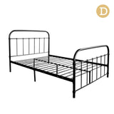 Double Size Metal Bed Frame - Black
