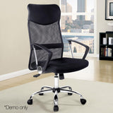 PU Leather Mash Office Chair High Back Computer Office Boardroom Chair Black