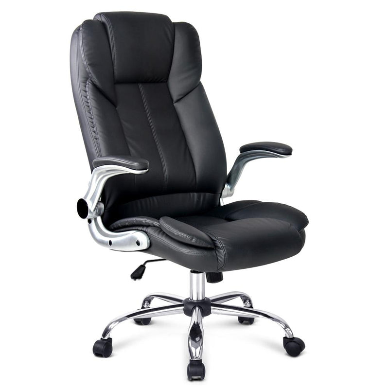 PU Leather Racing Style Office Chair - Black