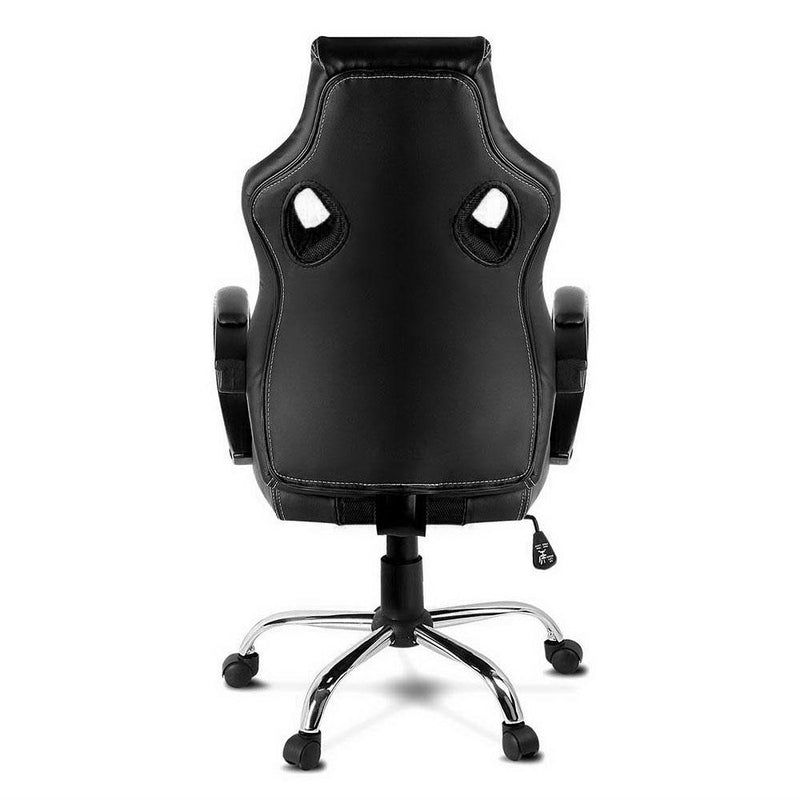 Racing Office Chair PU Leather Mesh High Back Seat Games Computer Black