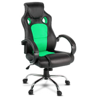 Racing Style PU Leather Office Chair - Green