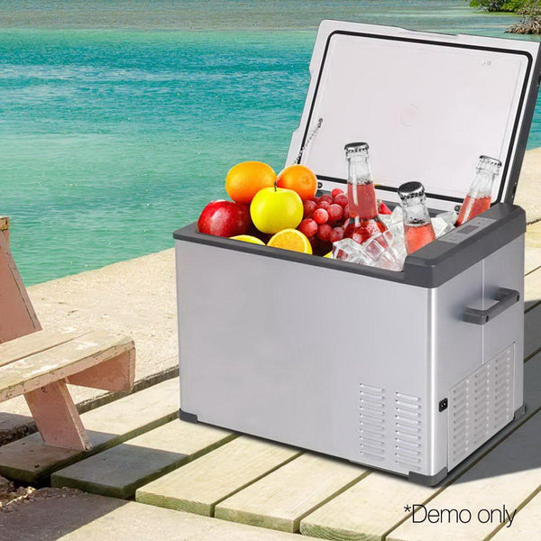 55L Portable Fridge Freezer For Outdoor Camping Shopping Car Boat Caravan Refrigerator