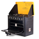 Portable Gas Oven And Stove Camping LPG Gas 3 Burner Stainless Steel Yellow