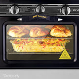 Portable Gas Oven And Stove Camping LPG Gas 3 Burner Stainless Steel Black